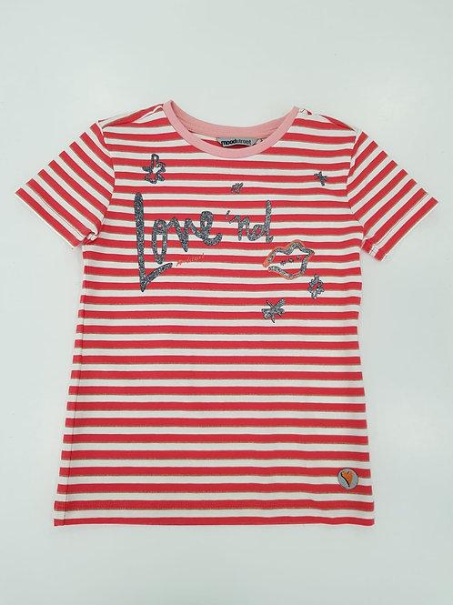 """Camiseta  listada blancas y rojas """"Love'nd"""" de MOODSTREET (M002-5402)"""