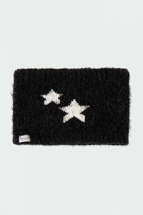 Cuello estrellas negro BOBOLI (490160)