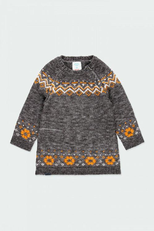Vestido tricotosa antracita BOBOLI (223096)