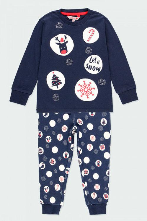Pijama navideño marino BOBOLI (963020)