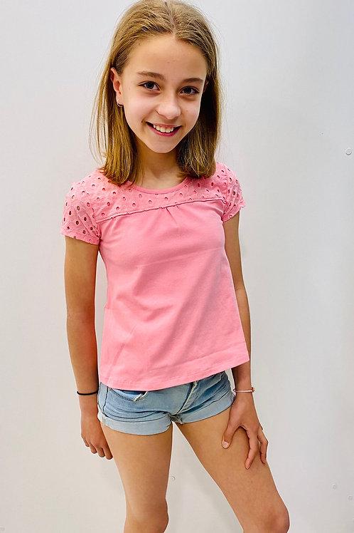 Camiseta rosa bordados de MILON (10887)