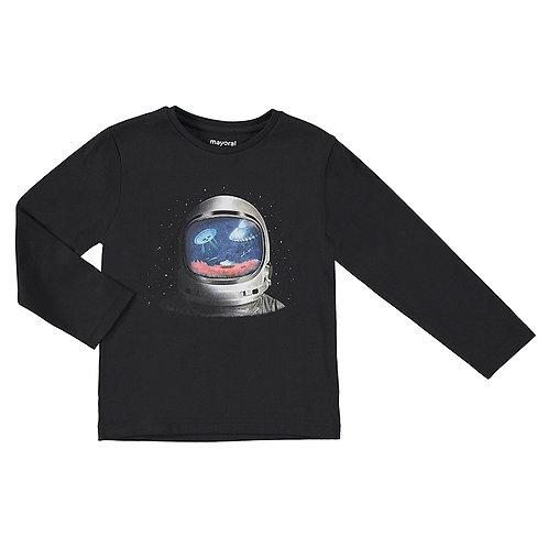 Camiseta negra espacio MAYORAL (4089)