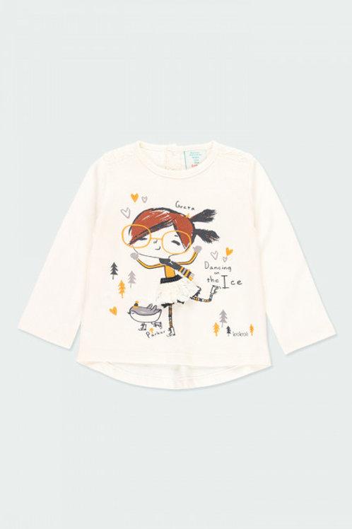 Camiseta blanca con guipur BOBOLI (223131)
