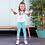 Thumbnail: Pantalón rayas verde/blanco B.NOSY (Y103-5684)