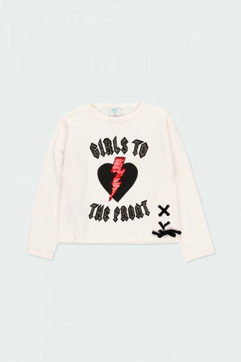 Camiseta blanca rock BOBOLI (433189)