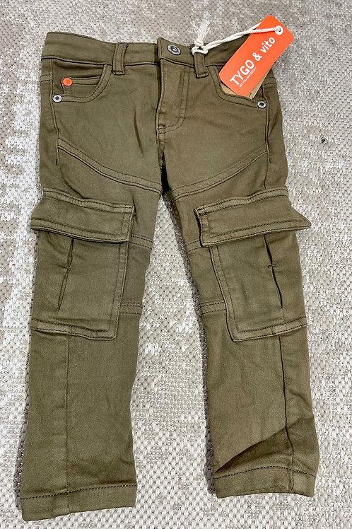 Pantalón vaquero verde TYGO (X009-6635)