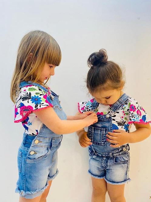 Camiseta Estampada de Flores de Nanai (600100)