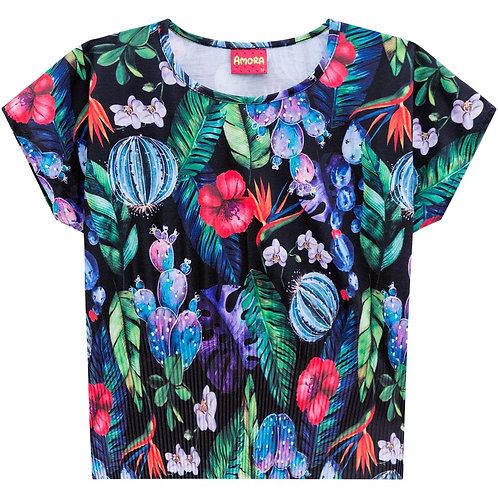 Camiseta hojas AMORA (51364)
