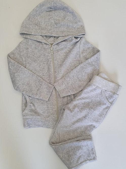 Conjunto terciopelo gris (7409)