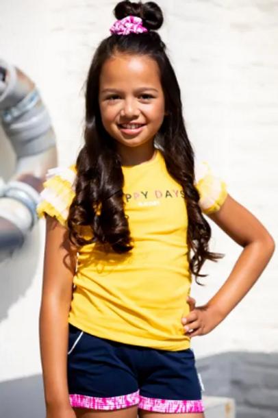 "Camiseta amarilla""happy days"" B.NOSY (Y103-5470)"