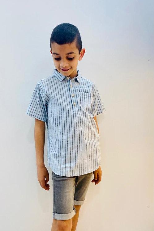 Camisa rayas azul MILON (11806)