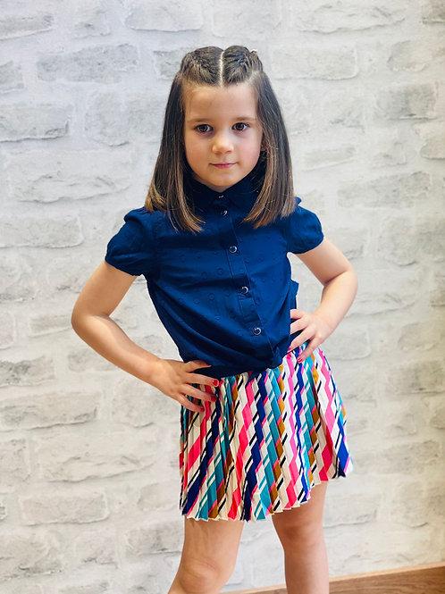 Falda niña plisada de B.NOSY (Y102-5743)