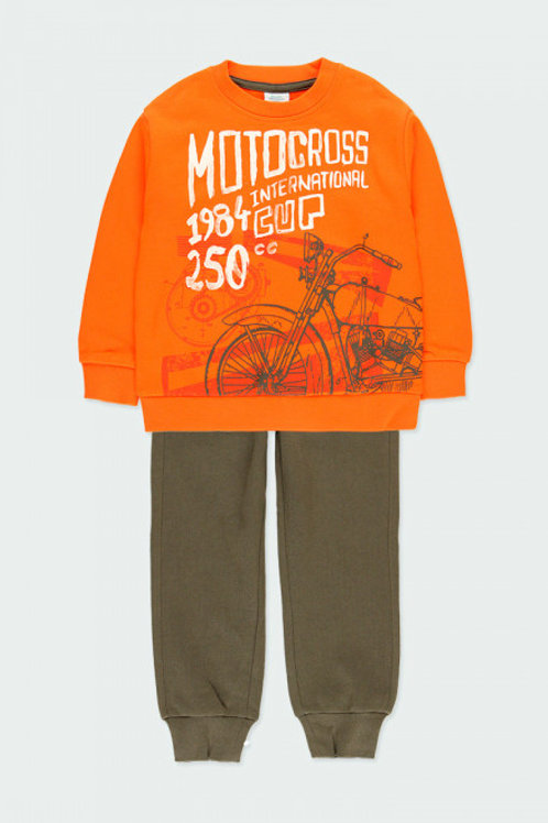 Conjunto naranja motocross BOBOLI (523213)
