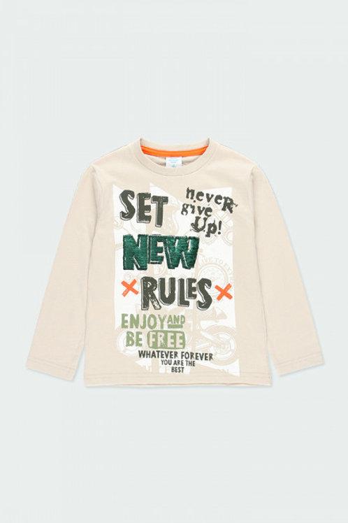 Camiseta set new rules BOBOLI (523167)
