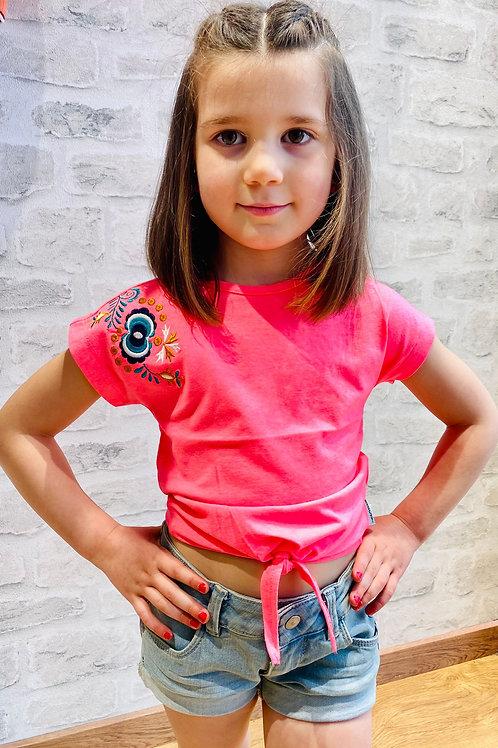 Camiseta bordado hombro de B.NOSY (Y102-5435)