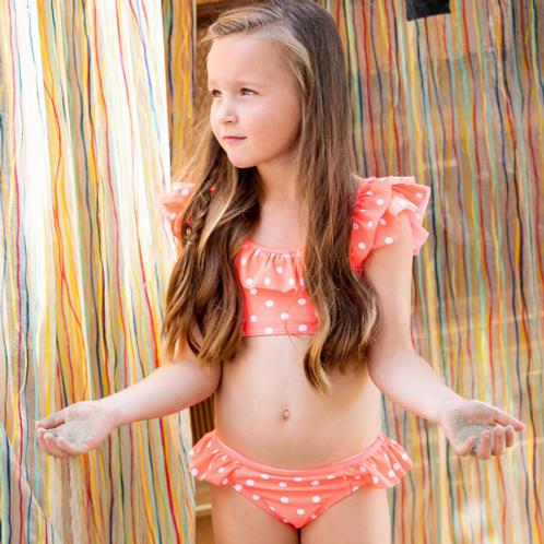 Bikini lunares rosa flúor B.NOSY (