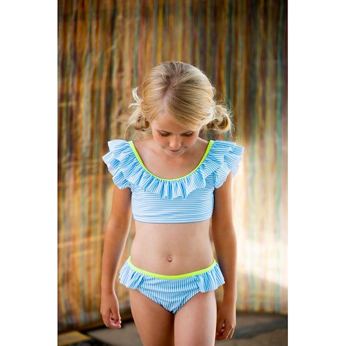 Bikini rayas azul blanco B.NOSY (Y102-5016)