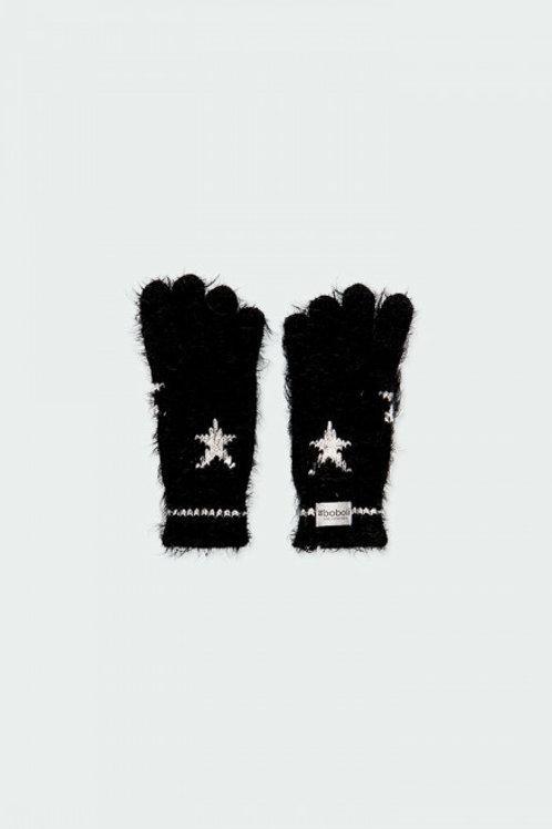 Guantes estrellas negro BOBOLI (490171)