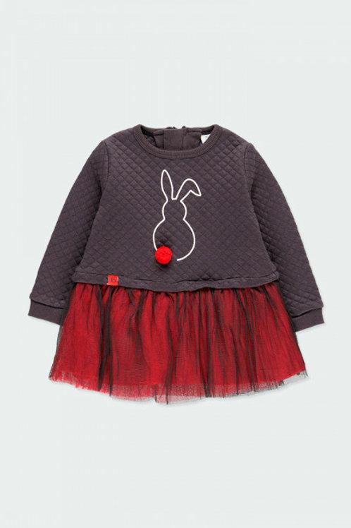 Vestido conejito antracita BOBOLI (243087)