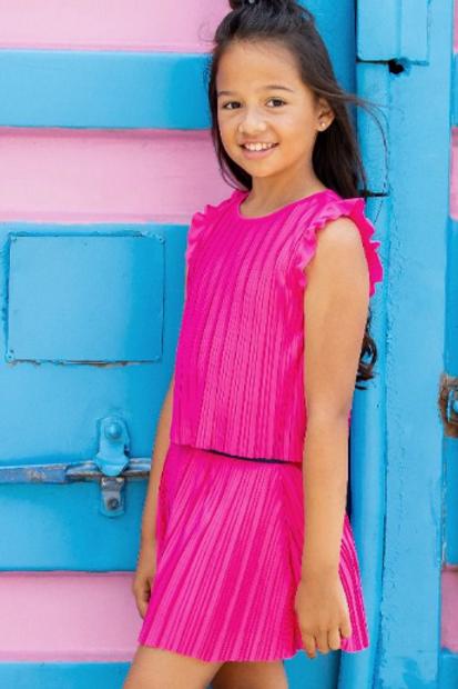 Vestido plisado rosa B.NOSY (Y103-5872)