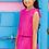 Thumbnail: Vestido plisado rosa B.NOSY (Y103-5872)
