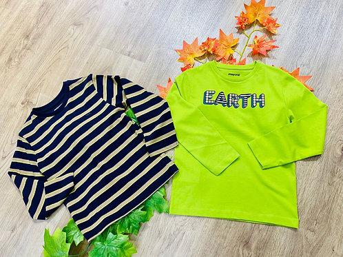 Set 2 camisetas verde/rayas MAYORAL (4082)