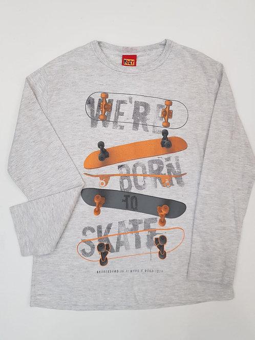 """Camiseta """"Born to Skate"""" gris (206980)"""