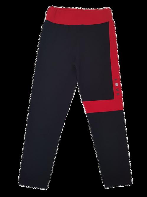 Leggins negro/rojo PEOPLE (11018)