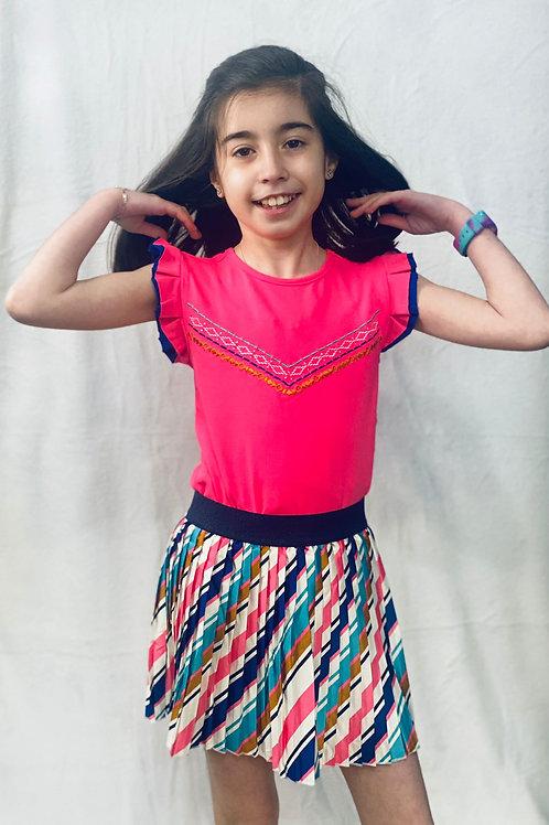 Camiseta niña volante en hombro de B.NOSY  (Y102-5446)