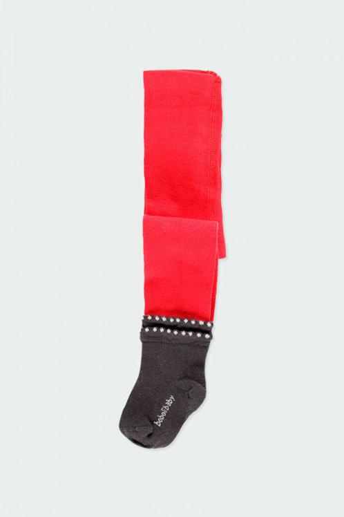 Leotardo calcetín rubí/ antracita BOBOLI (243065)
