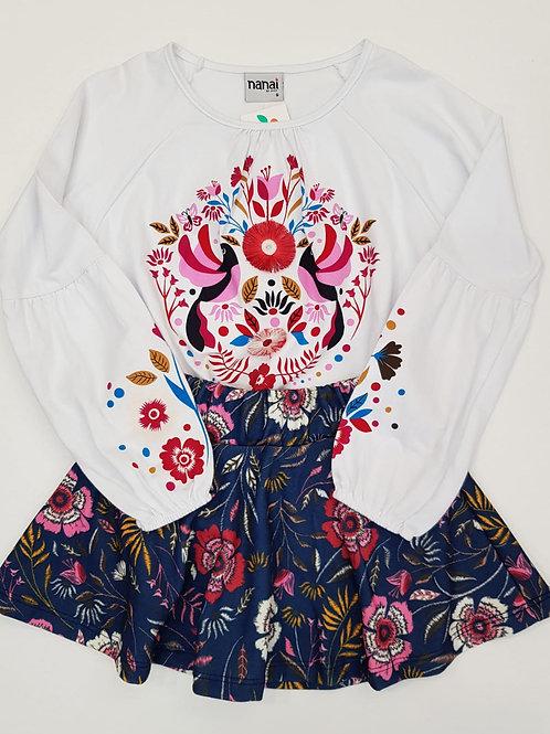 Conjunto camiseta y falda (600206)