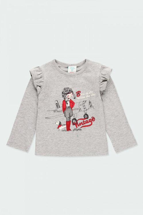 Camiseta volantes gris vigoré BOBOLI (243166)