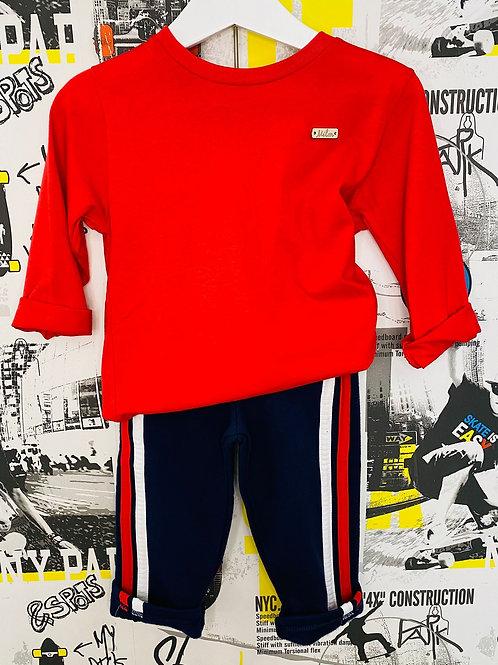 Camiseta básica roja (9036)