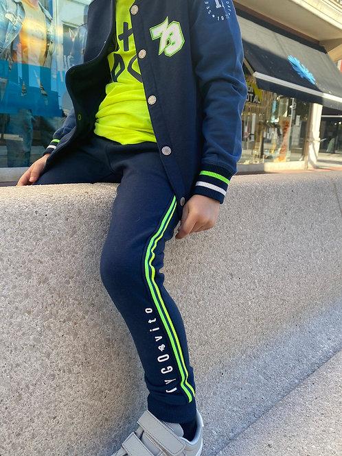 Pantalón Rayas Verdes (X012-6610)