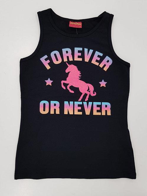 """Camiseta Tiras """"Forever or never"""" (51149)"""