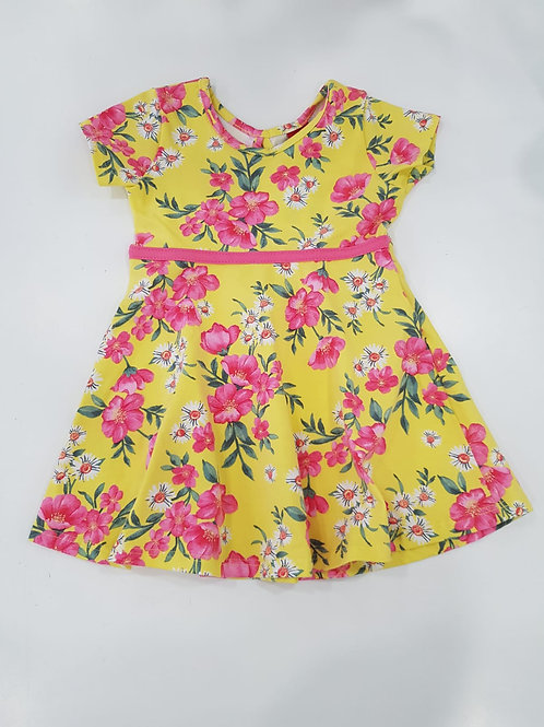 Vestido amarillo flores KYLY (109638)