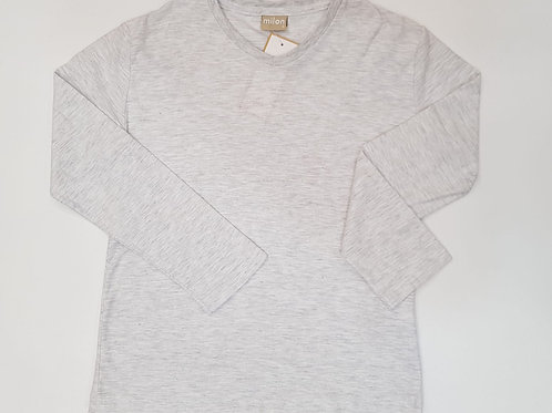 Camiseta básica pico gris(9040)