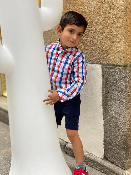 Camisa popelin cuadros BOBOLI (732350)