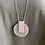 Thumbnail: Long Silver Disk Necklace