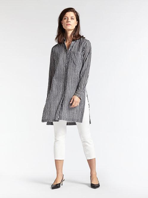 Sandwich Long Shirt with Side Slits