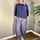 Thumbnail: Mama B Bianco Chambray Blu Spot Pant