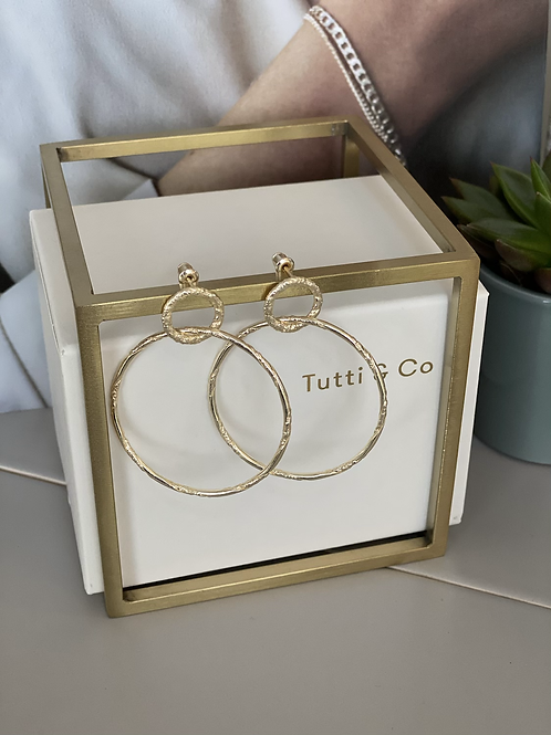 Tutti & Co Interlock Circle Stud Earrings