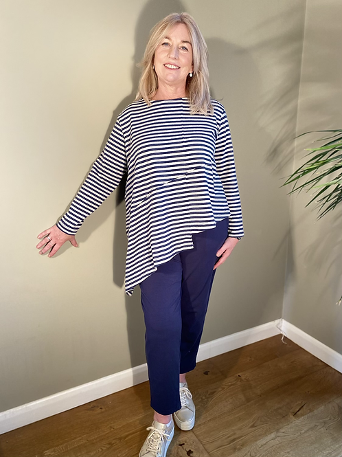 Mama B Recitio Stripe Top Blu