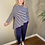 Thumbnail: Mama B Recitio Stripe Top Blu