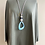 Thumbnail: Long Grey Turquoise Necklace