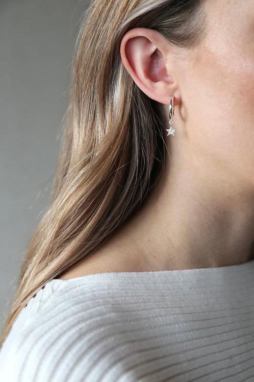 Tutti & Co Star Hoop Earrings