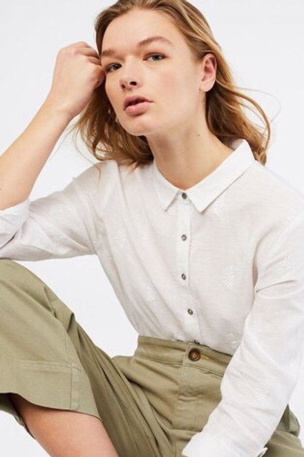 White Stuff Amelie White Linen Shirt