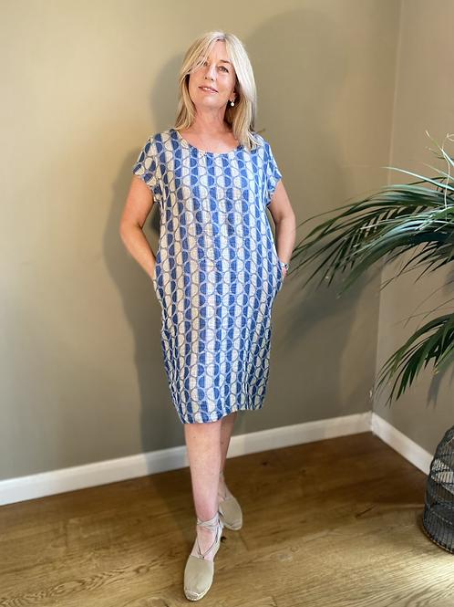 Thing Short Sleeve Linen Dress
