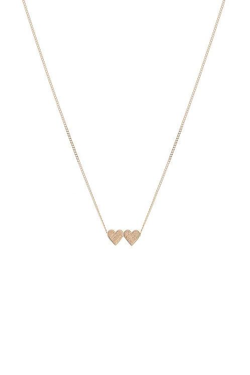 Tutti & Co Double Heart Necklace