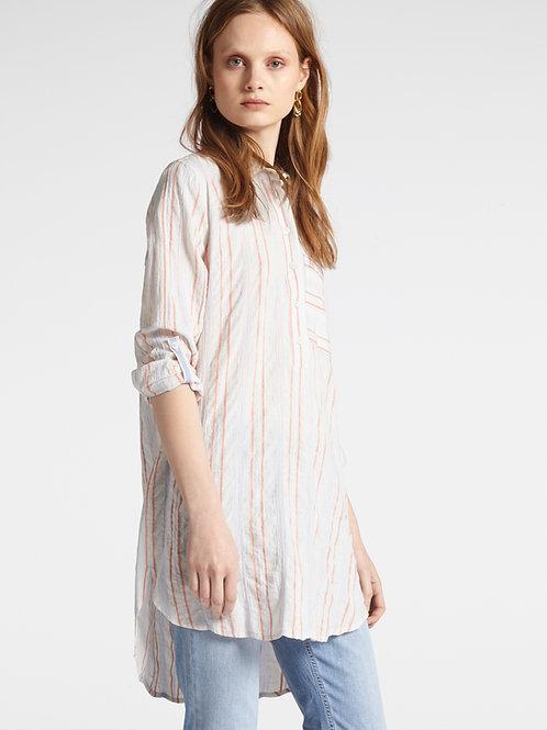Sandwich  Coral Stripe Soft Cotton Shirt